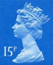 15p Bargain GB Postage Stamp